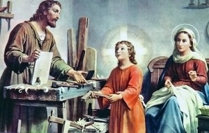 Holy Family in the Workhop