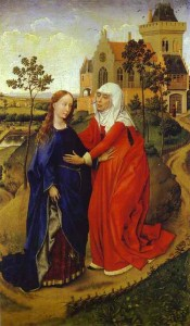 Visitation of Mary by Rogier van der Weyden 1440-1445