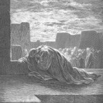 Ezra Kneels in Prayer - By Gustave Dore
