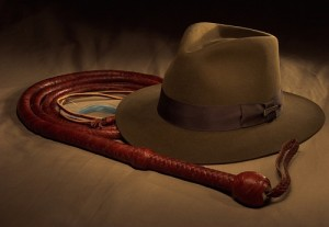 Indiana Jones Hat and Bullwhip